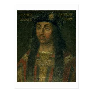 Porträt von Henry VII (1457-1509) (Öl auf Platte) Postkarte