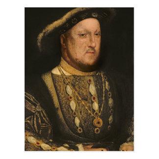 Porträt von Henry VIII c.1536 Postkarte
