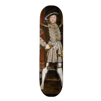 Porträt von Henry VIII durch Hans Holbein das jüng Individuelles Skateboard