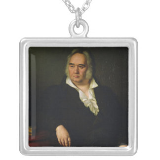 Porträt von Iwan A. Krylov, 1832 Versilberte Kette
