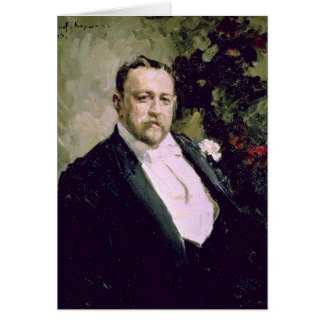 Porträt von Iwan Morosov 1903 Karte
