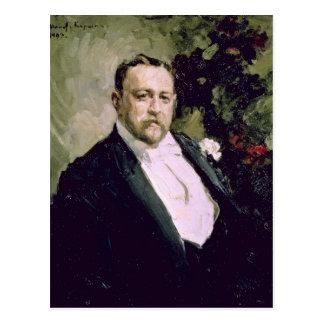 Porträt von Iwan Morosov 1903 Postkarte