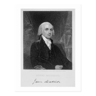 Porträt von James Madison, graviert von William A. Postkarte
