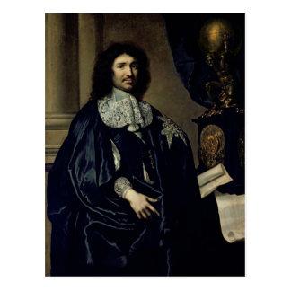 Porträt von Jean-Baptiste Colbert de Torcy 1666 Postkarte
