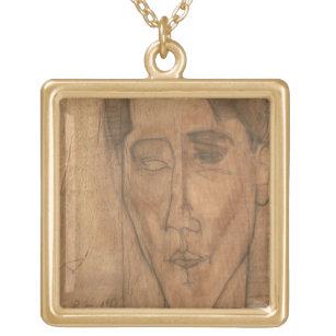 Porträt von Jean Cocteau (1889-1963) 1917 (Bleisti Vergoldete Kette