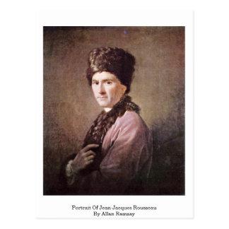 Porträt von Jean-Jacques Rousseau durch Allan Postkarte