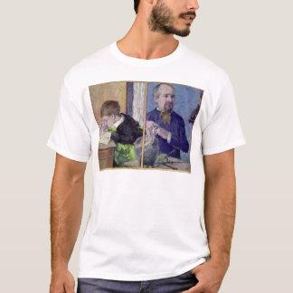 Porträt von Jean Paul Aube und sein Sohn T-Shirt