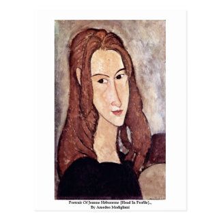 Porträt von Jeanne Hébuterne [Kopf im Profil]. , Postkarte
