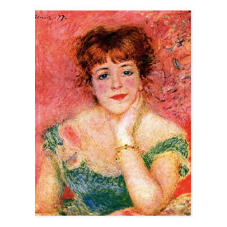 Porträt von Jeanne Samary durch Pierre Renoir Postkarte