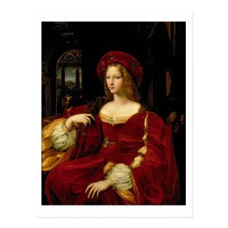 Porträt von Jeanne von Ehefrau Aragoniens Postkarte