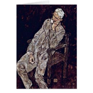 Porträt von Johann schädigt durch Egon Schiele Karte