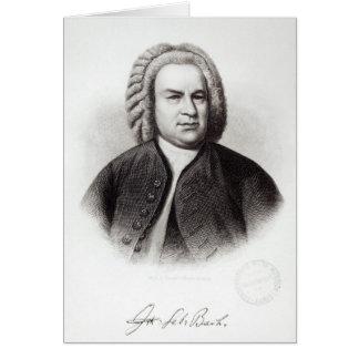 Porträt von Johann Sebastian Bach Karte