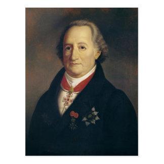 Porträt von Johann Wolfgang von Goethe Postkarte