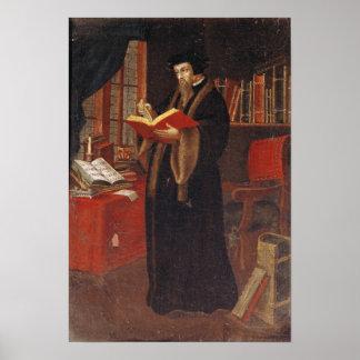 Porträt von Johannes Calvin Poster