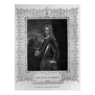 Porträt von John-Herzog von Montagu Postkarte