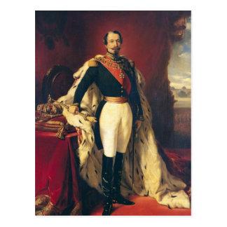 Porträt von Kaiser Napoleon III von Frankreich Postkarte
