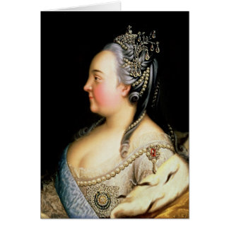 Porträt von Kaiserin Elizabeth Petrovna Karte