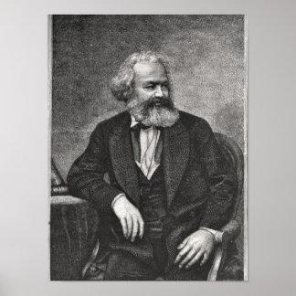 Porträt von Karl Marx 1857 Posterdruck