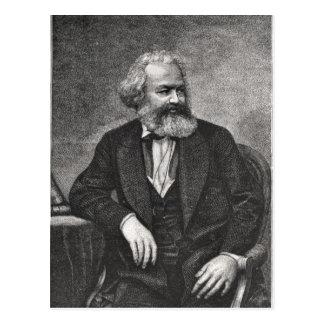 Porträt von Karl Marx 1857 Postkarte