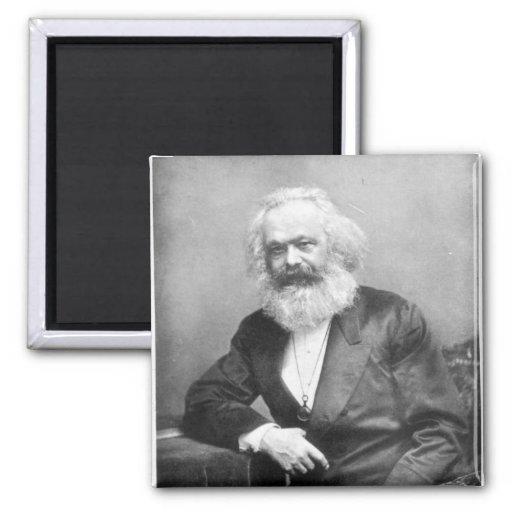 Porträt von Karl Marx Magnets
