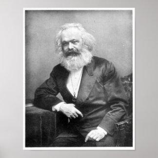 Porträt von Karl Marx Poster