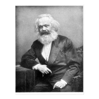Porträt von Karl Marx Postkarte