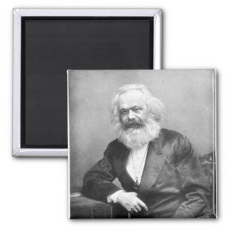 Porträt von Karl Marx Quadratischer Magnet