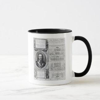 Porträt von König Charles I mit Diagrammen Tasse