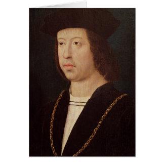 Porträt von König Ferdinand-II von Spanien Grußkarte