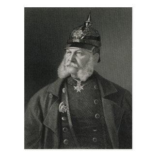 Porträt von König William-I von Preußen Postkarte