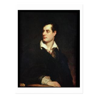 Porträt von Lord Byron (1788-1824) (Öl auf Postkarte