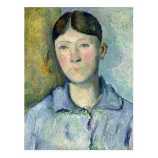 Porträt von Madame Cezanne, 1885-90 Postkarte