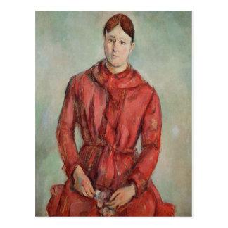 Porträt von Madame Cezanne Postkarte