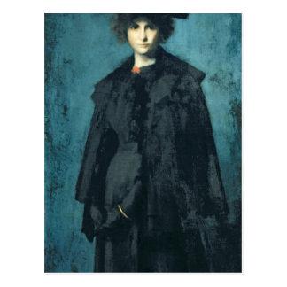 Porträt von Madame Laura Leroux Postkarte