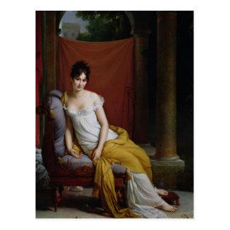 Porträt von Madame Recamier Postkarte