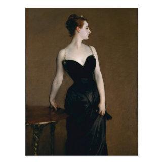 Porträt von Madame X durch John Singer Sargent, Postkarte