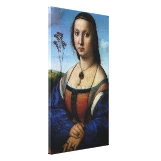 Porträt von Maddalena Doni durch RAPHAEL oder Leinwanddruck
