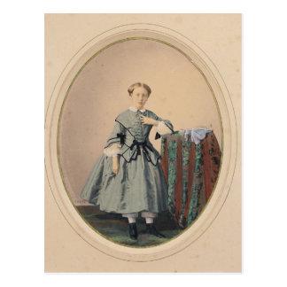 Porträt von Madeleine de Malaret Postkarte