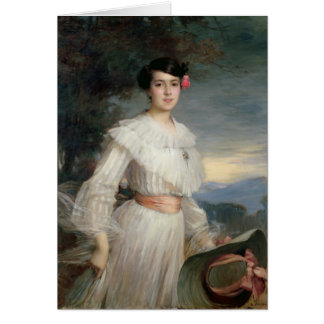 Porträt von Madeleine Reclus, 1902 Grußkarte