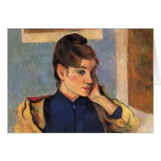Porträt von Madeline bernard - Paul Gauguin Karte