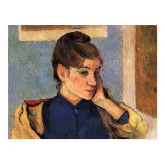 Porträt von Madeline bernard - Paul Gauguin Postkarte