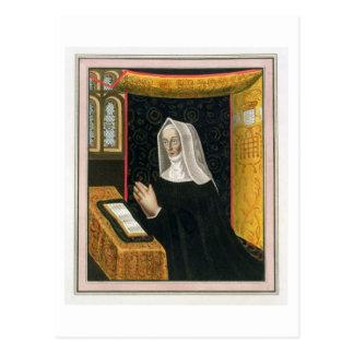 Porträt von Margaret Beaufort, Gräfin von Richmon Postkarte
