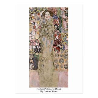 Porträt von Maria Munk durch Gustav Klimt Postkarte