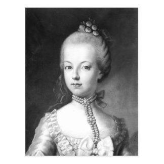Porträt von Marie-Antoinette von Habsburgern Postkarte