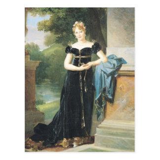 Porträt von Marie Laczinska Gräfin Walewska Postkarte