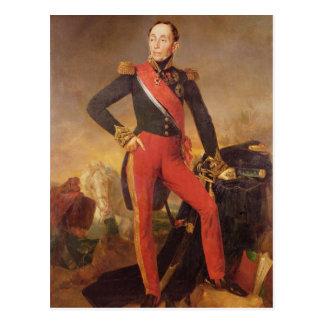 Porträt von Marquis Emmanuel de Grouchy Postkarte