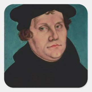 Porträt von Martin Luther, 1529 Quadratischer Aufkleber