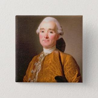 Porträt von Martin-Pierre Foache (Öl auf Leinwand) Quadratischer Button 5,1 Cm