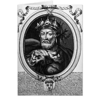 Porträt von Merovech König der Salian Fränke Karte