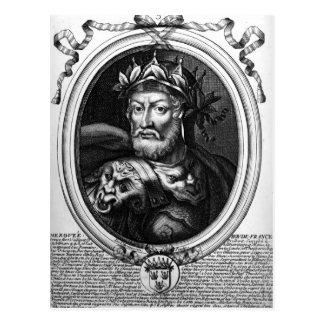 Porträt von Merovech König der Salian Fränke Postkarte